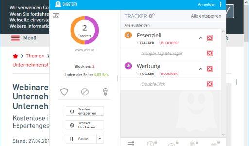 WKO-Tracker und DSGVO
