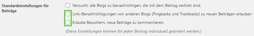 WordPress Kommentare
